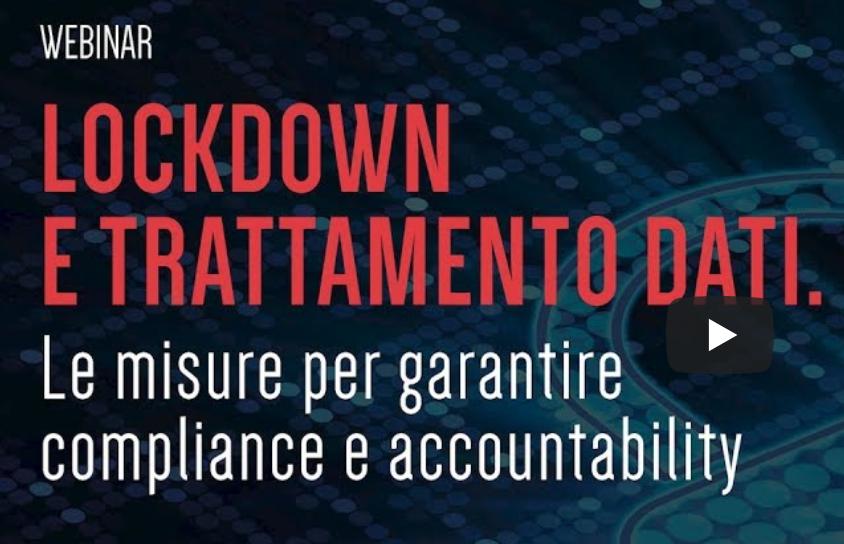 Lockdown e trattamento dati, il webinar con Panetta & Associati